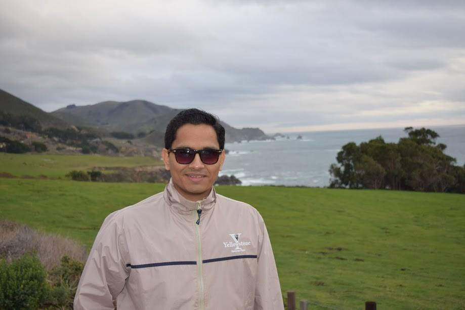 This photo was taken right after I got  my first Job on California cost close to San Jose.